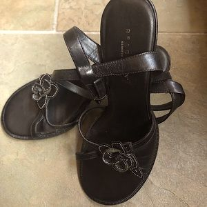Kenneth Cole Ankle Strap Sandals.